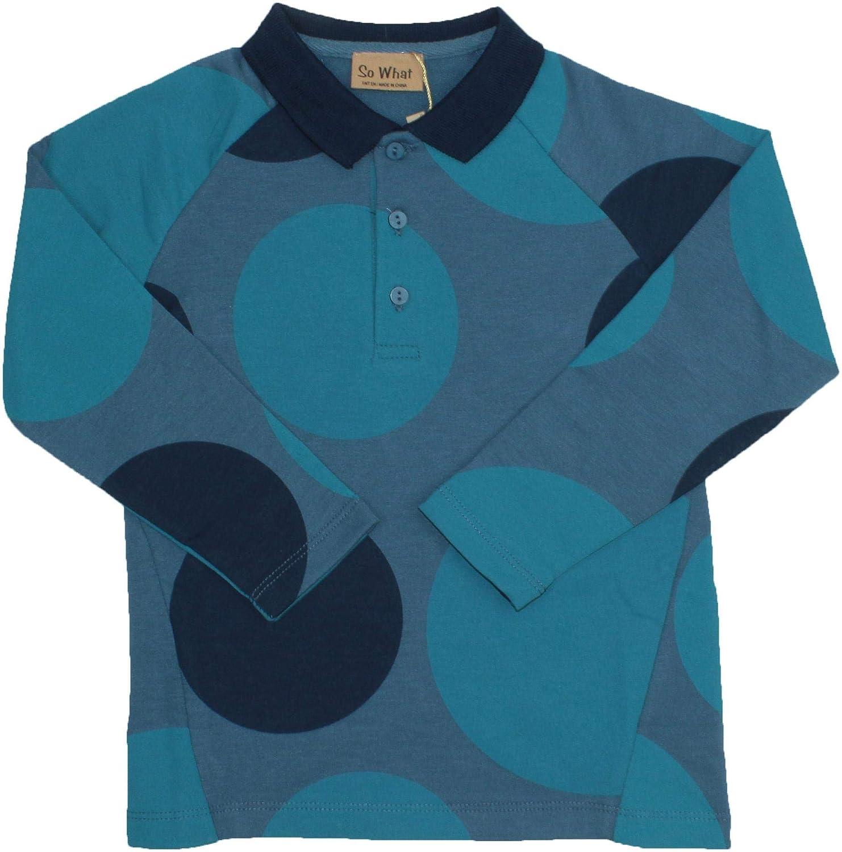 WA8CY407 So What Boys Long Sleeve Polo Shirt with Circles