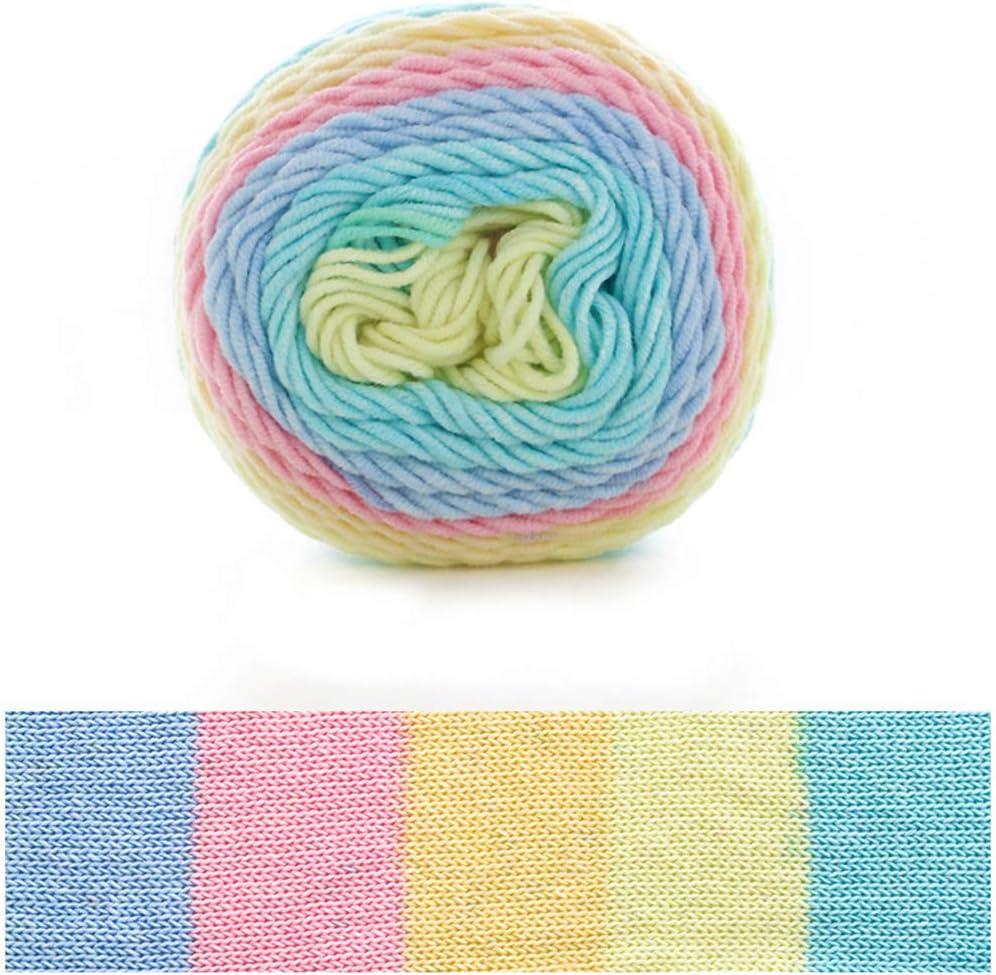 Incdnn - Ovillo de lana de algodón para tejer (5 hilos, 100 g ...