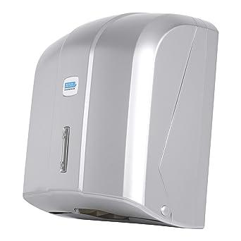 Dispensador de toallas de papel Aviva, 400 hojas, cromado, de alta calidad,