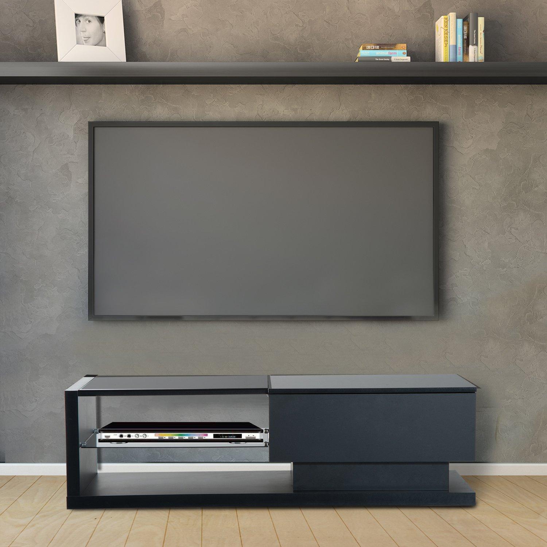 HomCom 51'' Modern TV Stand Media Center - Black by Overstock (Image #2)