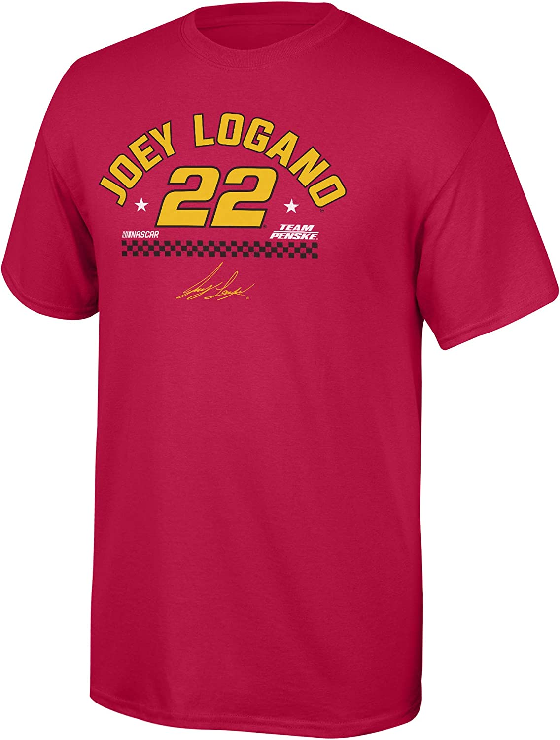NASCAR Driver Merchandise Fan Favorite Arched Name Cotton Short Sleeve Tee