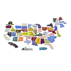 United States All 50 US State Fridge Magnets & Puerto Rico PR Magnet