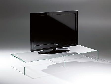 Porta Tv Lcd Vetro.Howe Deko Design Tavolino Per La Tv Porta Tv Di Vetro Acrilico Di