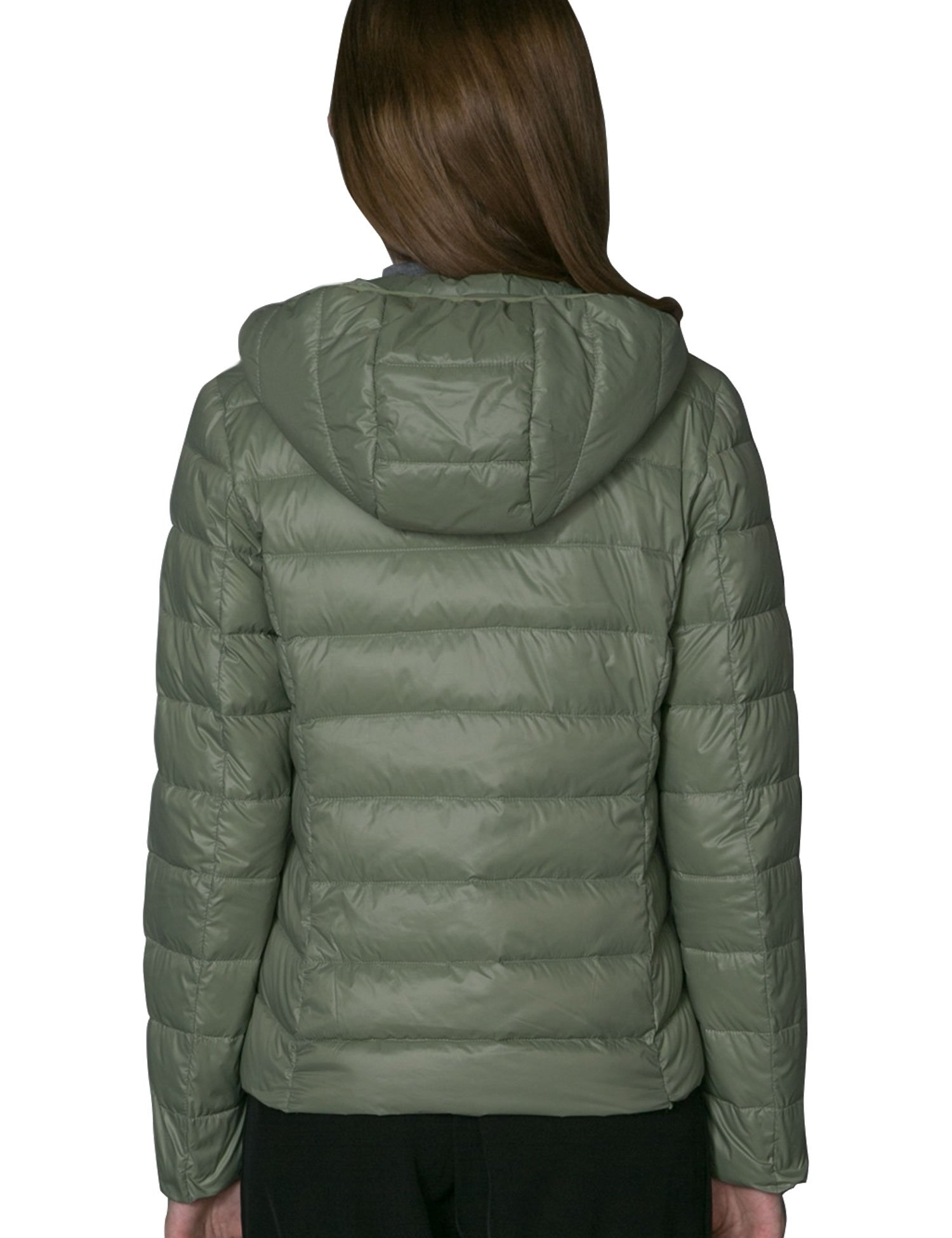 CHERRY CHICK Special Color, Packable, Ultralight, Women's Puffer Down Parka Jacket with Hood (S, Pea Green-17)