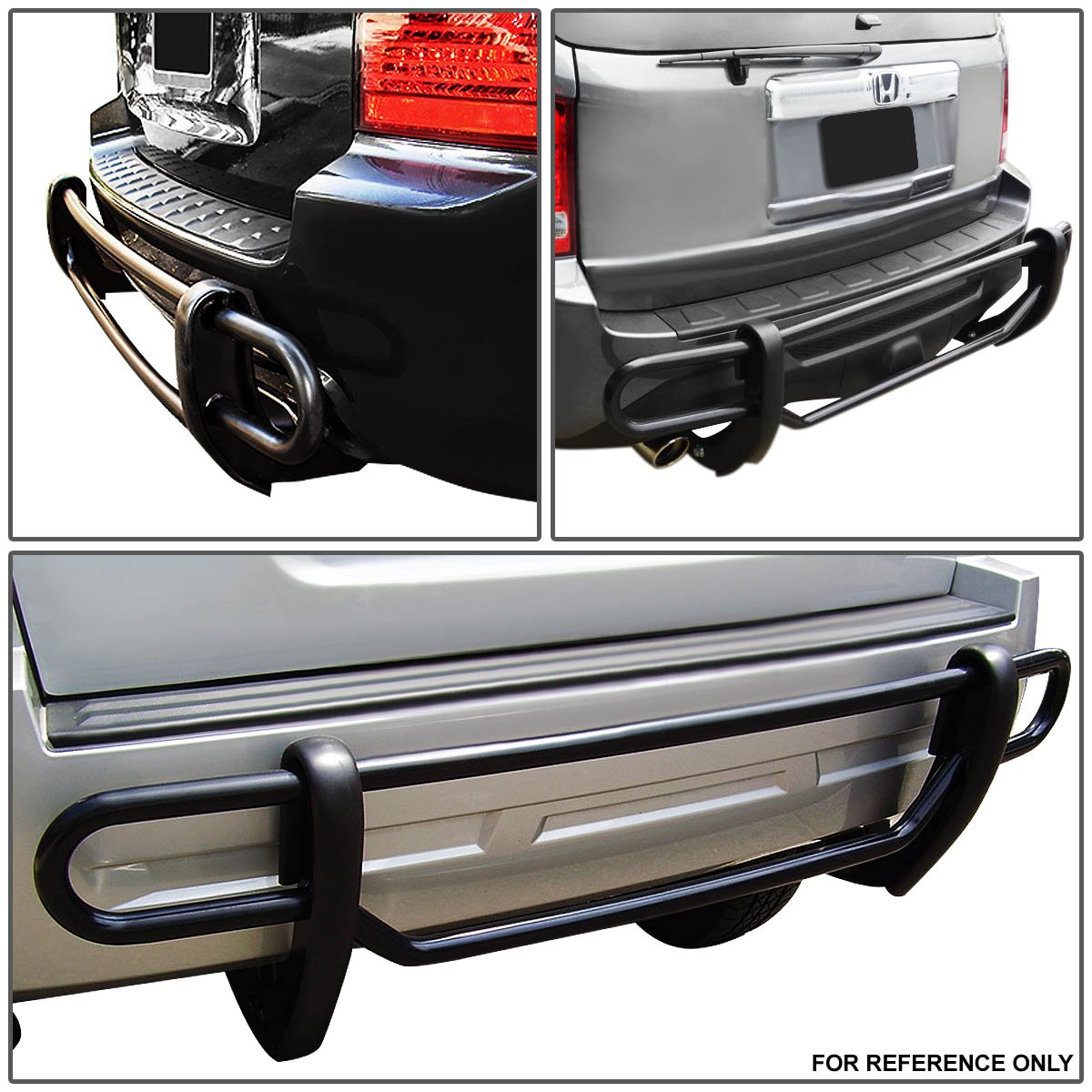 Amazon.com: For Honda Odyssey Stainless Steel Double Bar Rear Bumper  Protector Guard (Black): Automotive