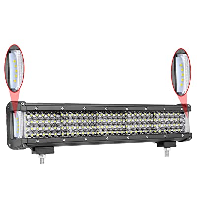 15 inch LED Light Bar, Moso LED Dually Sided Side Shooter Quad Row LED Spot Light Combo Light Bar CREE LED Fog Lights Waterproof Off Road Light LED Driving Light Work Light for Truck UTV ATVs SUV Boat: Automotive
