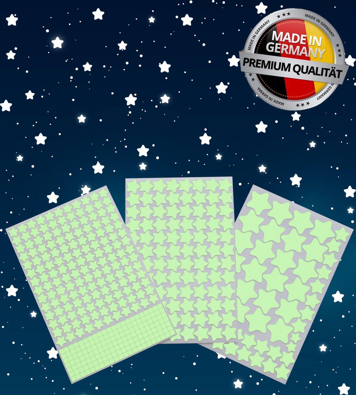 Paraboo Leucht Mond selbstklebend 30cm gelb für deinen Sternenhimmel oder auch als Wandsticker fluoreszierend Paraboo GmbH