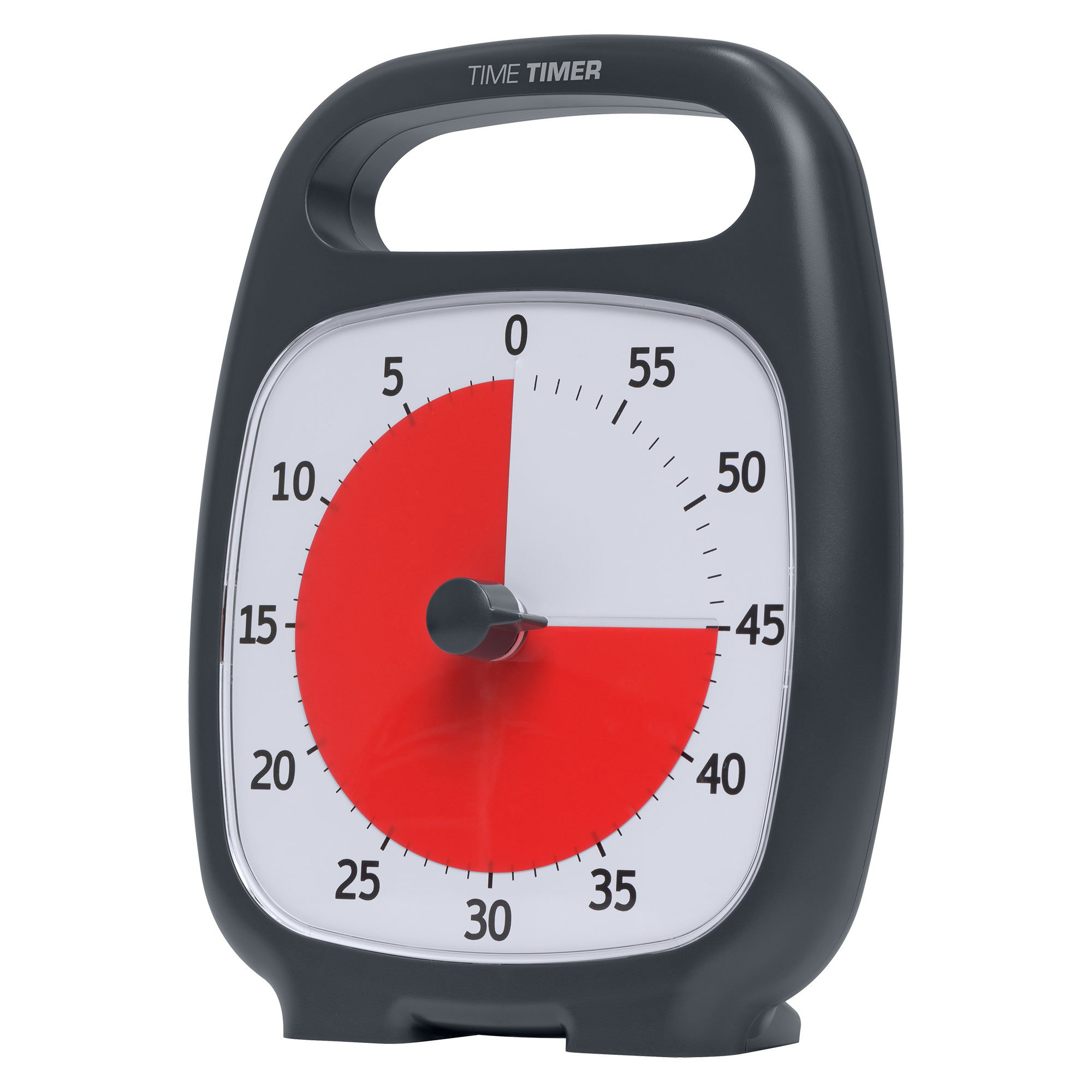 """Time Timer TTP7-W TTP7-W Plus 60 Minute Visual Analog Timer; Optional Alert (Volume-Control Dial); Silent Operation (No Ticking); 5.5"""" Wide x 7"""" Tall; Time Management Tool; Charcoal by Time Timer (Image #12)"""
