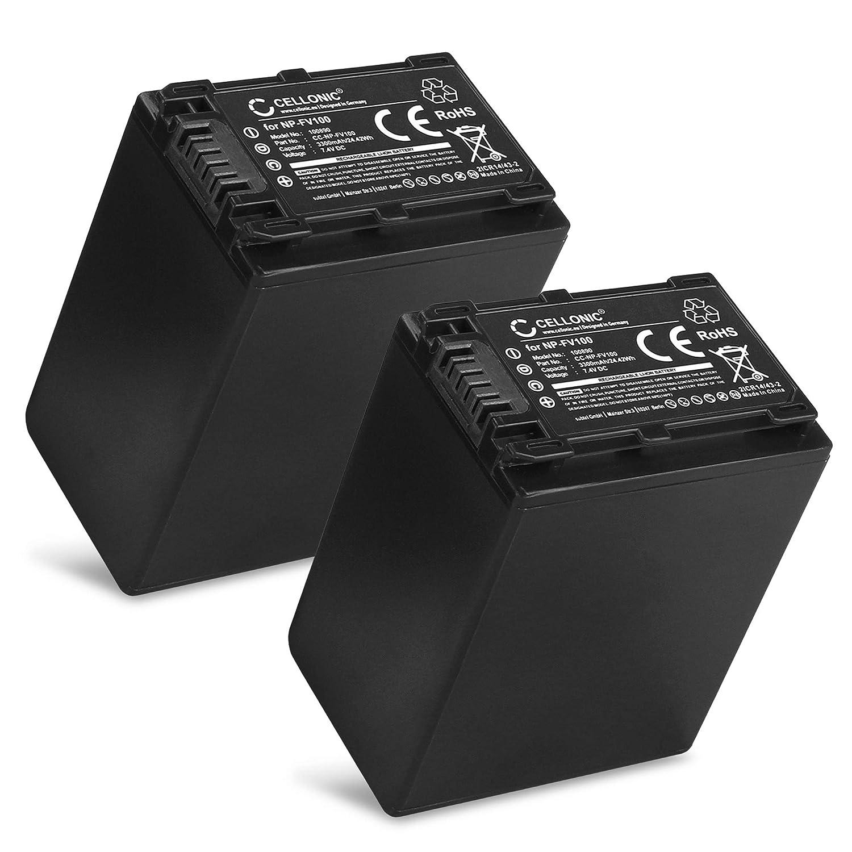 AX700 FV100 CX680 FDR-AX53 CX190 NEX-VG30 VG10 DCR-SR68 HDR-PJ675 caricatore auto CELLONIC/® Chargeur per AC-VQV10 BC-TRV Sony NP-FV70 CX675 FV50 AX100 PXW-Z90 HXR-NX80 HDR-CX625 CX400 CX220
