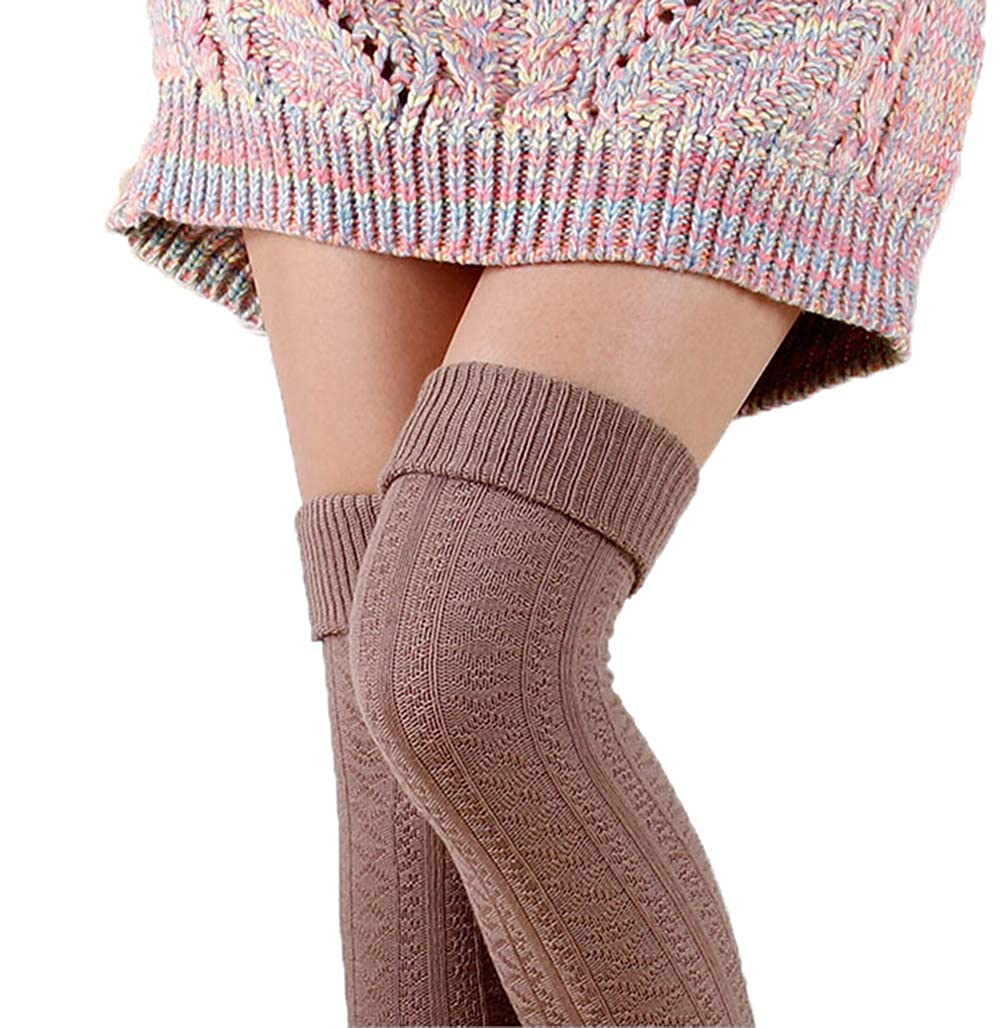 US Girls Fashions 29.13in Lengthen Tangled Stockings Retro Over-the-knee Cotton Warm Socks
