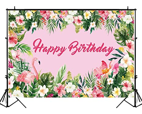 Amazon funnytree 7x5ft hot pink summer tropical flamingo party funnytree 7x5ft hot pink summer tropical flamingo party backdrop flowers jungle birthday decorations photography background photo mightylinksfo