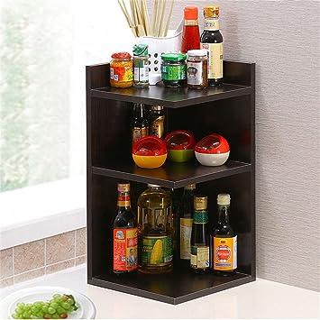 Amazon.de: Küchenmöbel-WXP Regal Vorhang Ecke Regal Dreieck Quadrat ...