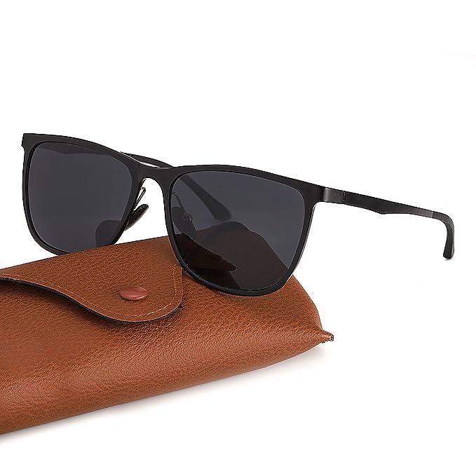 Gafas de Sol Polarizadas Hombre Al-Mg Marco de Metal Ultra Light, Protección 100