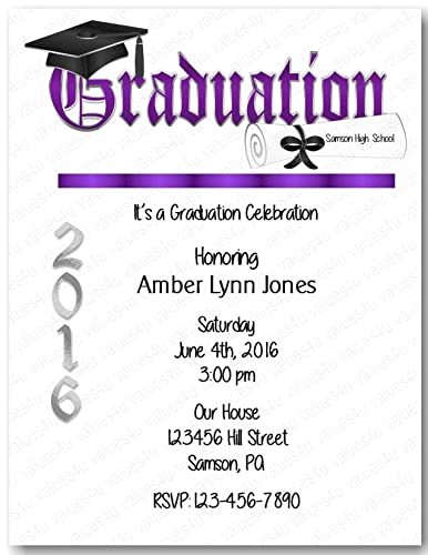 amazon com personalized graduation party invitation graduation
