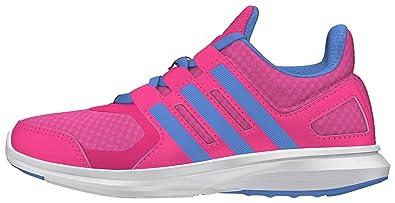 adidas Unisex-Kinder Hyperfast 2.0 K Laufschuhe, Pink (Pink/Blau/Weiß), 37 1/3 EU
