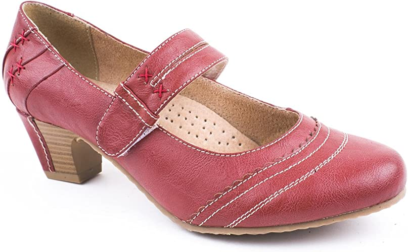 Caravelle Ladies Wide Fit Kiss Red