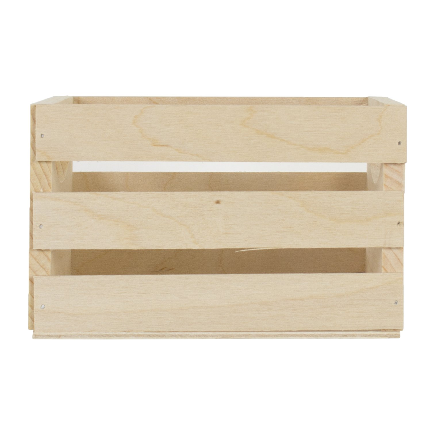 Beige 6.5X5.5X3.5 Walnut Hollow Mini Wooden Crate with Handles-6.5 5.3 x 4.25-inch