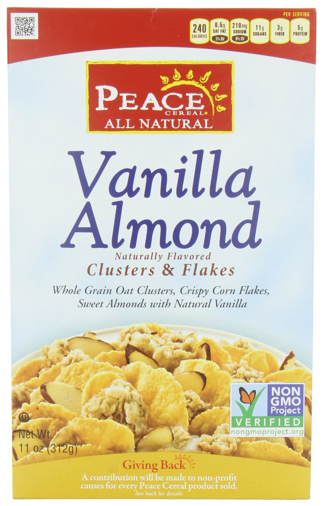 Peace Cereal, Vanilla Almond, 11-Ounce (Pack of 3)