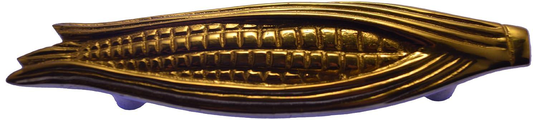 Brass Elegans Corn Cob Design Cast Brass Cabinet Pull in a Designer Polished Brass Finish Brass Elegans Model #505CC-PLB Polished Brass