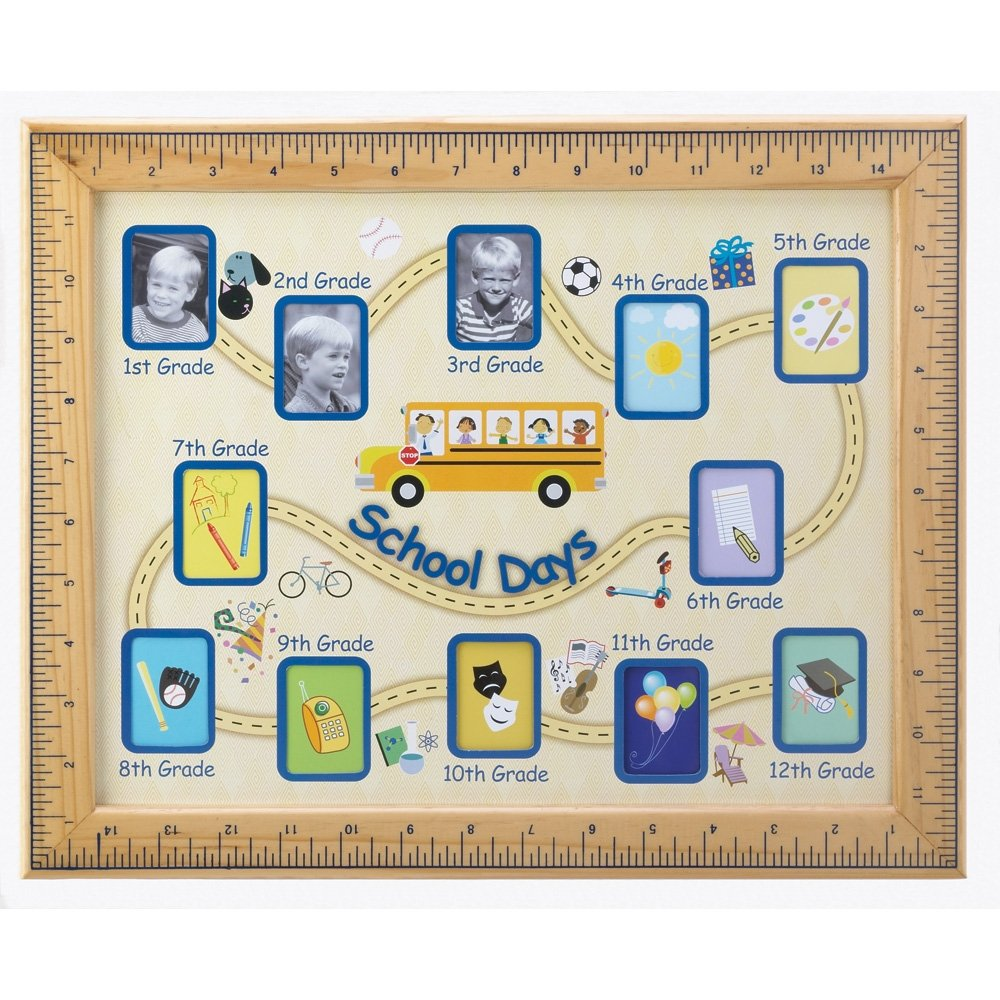 Gifts & Decor School Days Wall Hanging Photo Frame Furniture Creations 13854