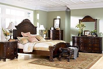 Amazon Com Ashley Furniture North Shore 4 Piece Panel Bedroom