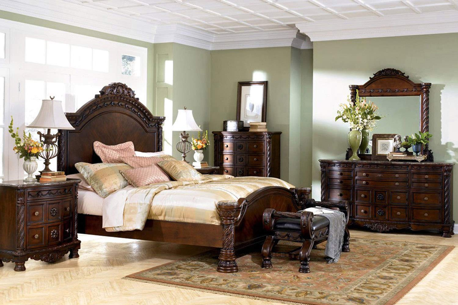Amazon Com Ashley Furniture North Shore 4 Piece Panel Bedroom Set