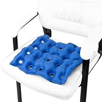 JYtop® Medical Silla de Ruedas Aire cojín Hinchable colchón Anti próstata Evitar decúbito Ideal para prolongado Sentado con Bomba FDA aprobación CE 17 x 17 ...