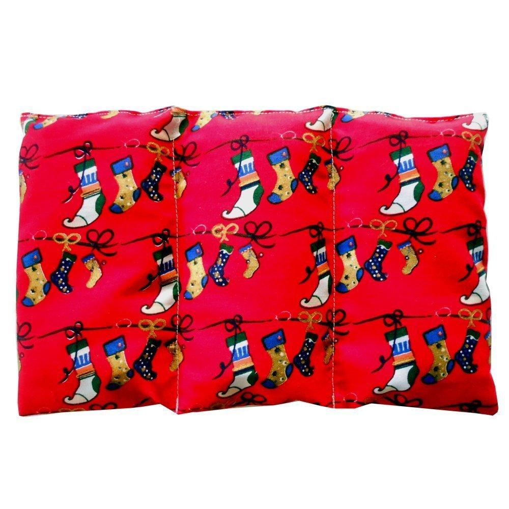 Coussin chauffant Chaussettes de Noël - rempli de noyaux de cerise - coussin thérapeutique - 26x16cm - 330gr