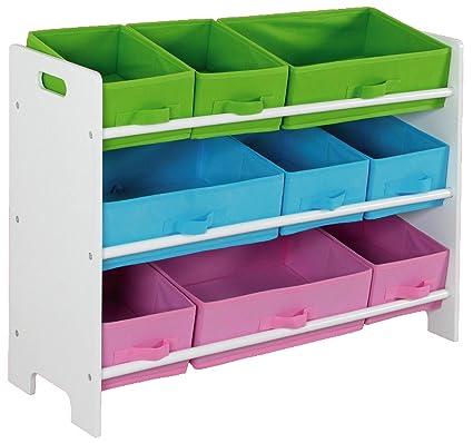 Genial Home Basics SS00685 Storage Shelf With 9 Bins