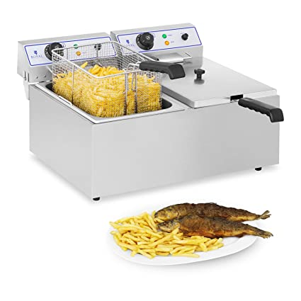 Royal Catering Freidora Electrica Profesional Doble RCEF 15D (2 x 17 L, 3.000 W