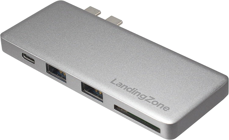 LandingZone USB Type-C Hub for MacBook Pro and MacBook Air Models A1706/A1707/A1708/A1989/A1990/A1932/A2141/A2159/A2251/A2289 Released 2016 to 2020 (Space Grey)