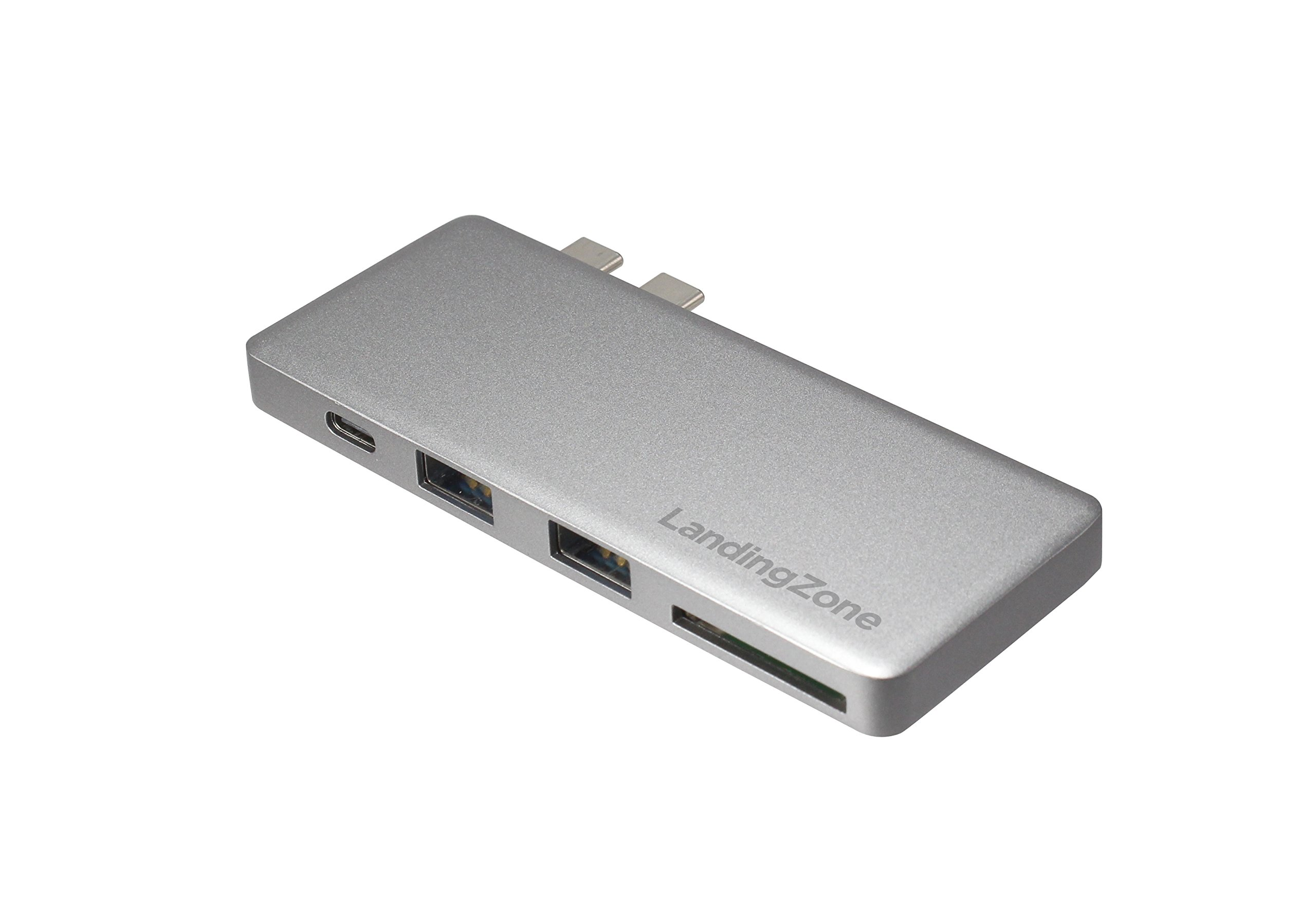 LandingZone USB Type-C Hub for New MacBook Pro Model A1706, A1707 & A1708 Released 2016/2017 (Space Grey)