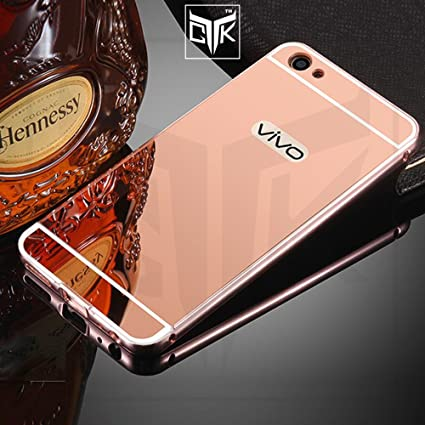 huge selection of 7b4b3 68291 TheGiftKart Mirror Back Cover with Metal Bumper for: Amazon.in ...