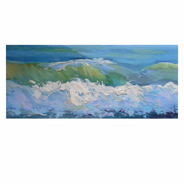 24 x 36 Kess InHouse Carol Schiff The Pastel Sea Purple Blue Luxe Rectangle Panel