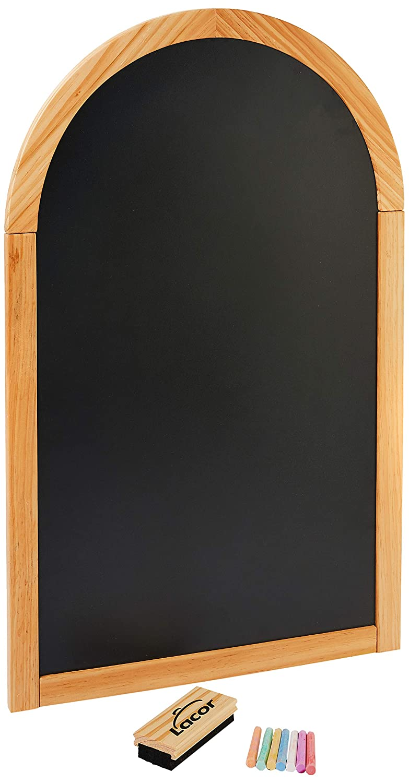 Lacor 39163黒板メニュー50X80 cm半円、黒   B07G4CZKML