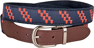 product image for Red Cups Cut-to-Size Leather Tab Belt by Belted Cow Company - Made in Maine