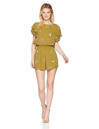 646f423c09cd Amazon.com  Billabong Women s Heavenly Fields Romper  Clothing