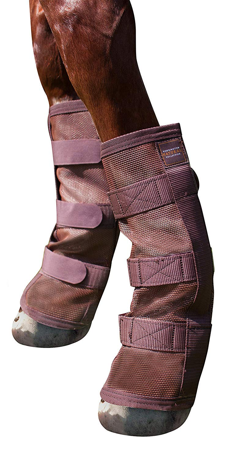 Kensington Natural Horse Fly Boots - Stay-Up Technology - Protection from Insect Bites and UV Rays - Sold in Pairs (2 Boots)