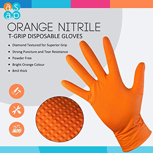taille 9//L Gants acegrip Latex Palm pack de 10 orange