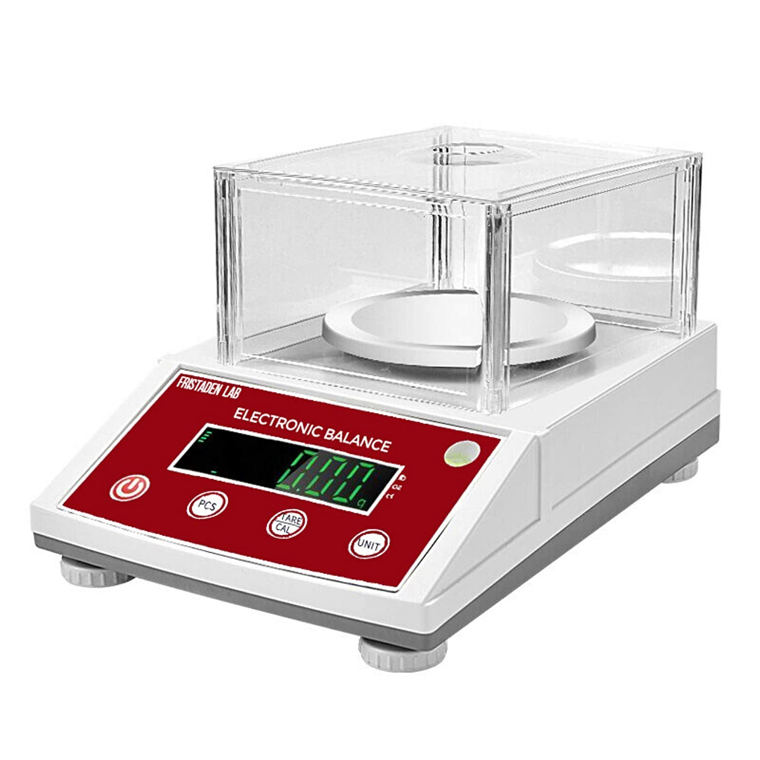 American Fristaden Lab Analytical Precision Scale 2000g x 0.01g   01 Gram Scale Weighs Grams, Ounces, Pounds, Carats   High Accuracy Digital Balance for Laboratory, Jewelry, Business   1YR Warranty