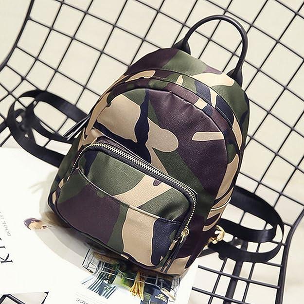 83bbb10c35b4 Clara Camouflage Women Mini Backpack Nylon Leisure Daypack Printed Shoulder  Bag Handbag Purse(Camouflage)  Amazon.ca  Shoes   Handbags