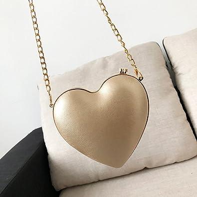 fashion Women Shoulder Bag Heart-Shaped Metal Chain Crossbody Bag womens handbags totes shoulder bags