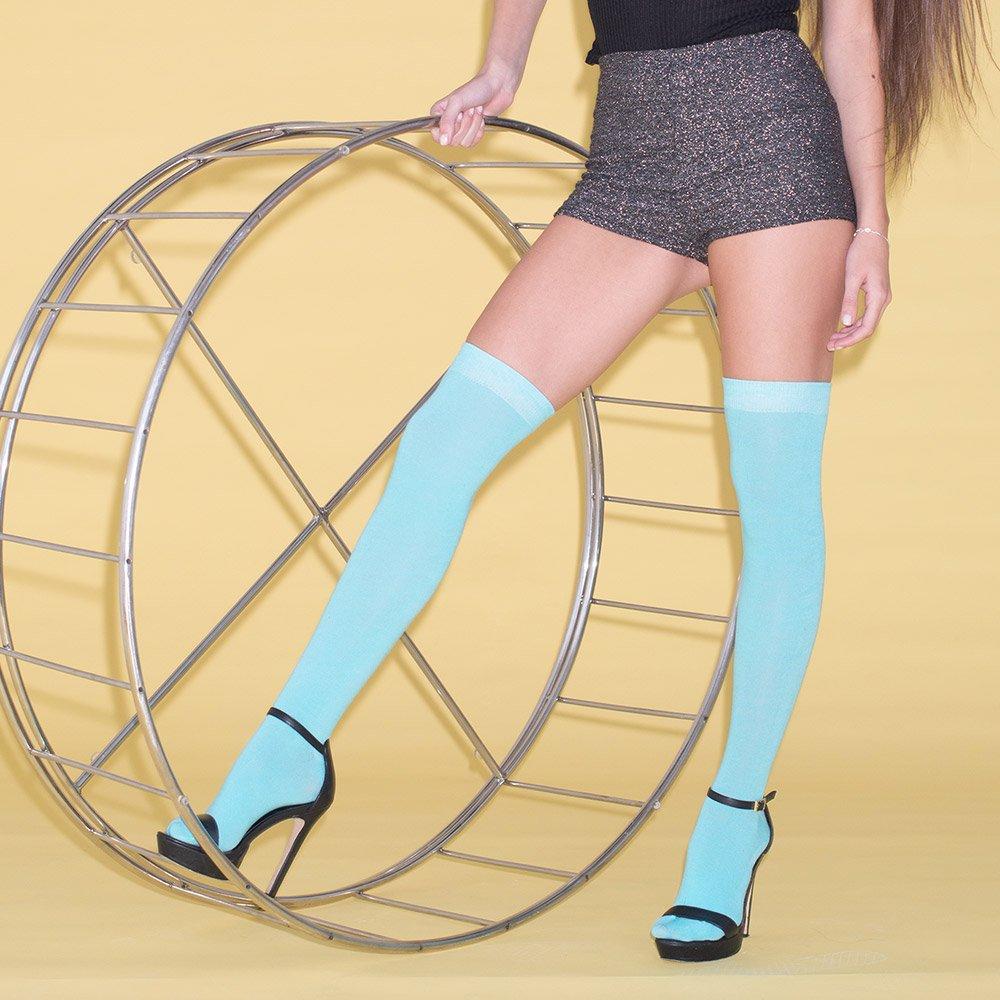 adam /& eesa Femmes Bas en coton uni pour Cuisse Haut Sur le Genou Chaussettes sur le genou 28 couleurs Uk Taille 4-6/½