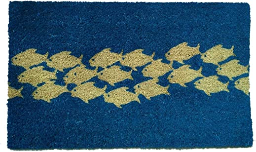 Geo Crafts G396 PVC Pool of Fish Entry Way Doormat