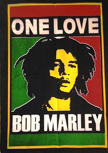 One Love Bob Marley Poster Hippie Wall Tapestry Boho Dorm Decor Indian