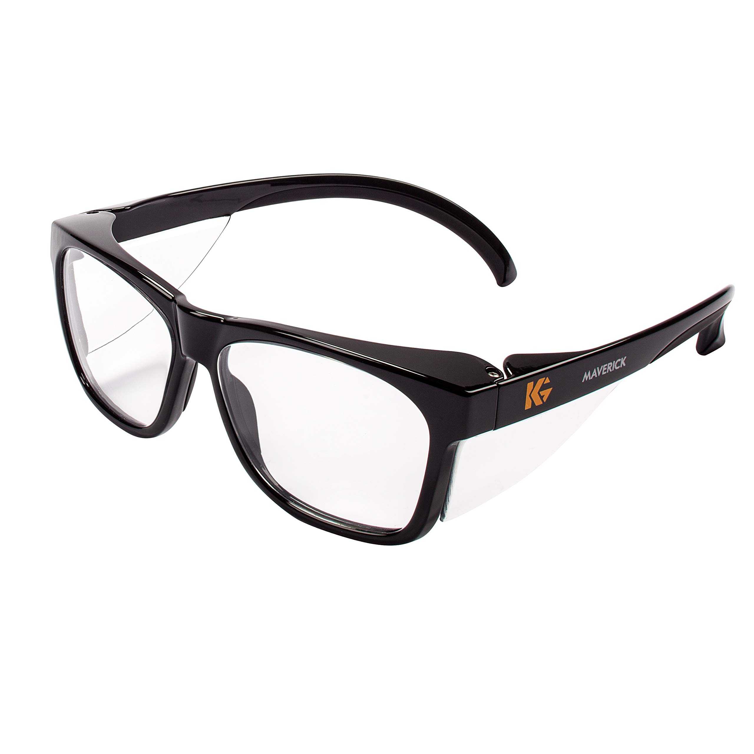 Kleenguard 49309 Maverick Safety Glasses, Black (Pack of 12) by KLEENGUARD