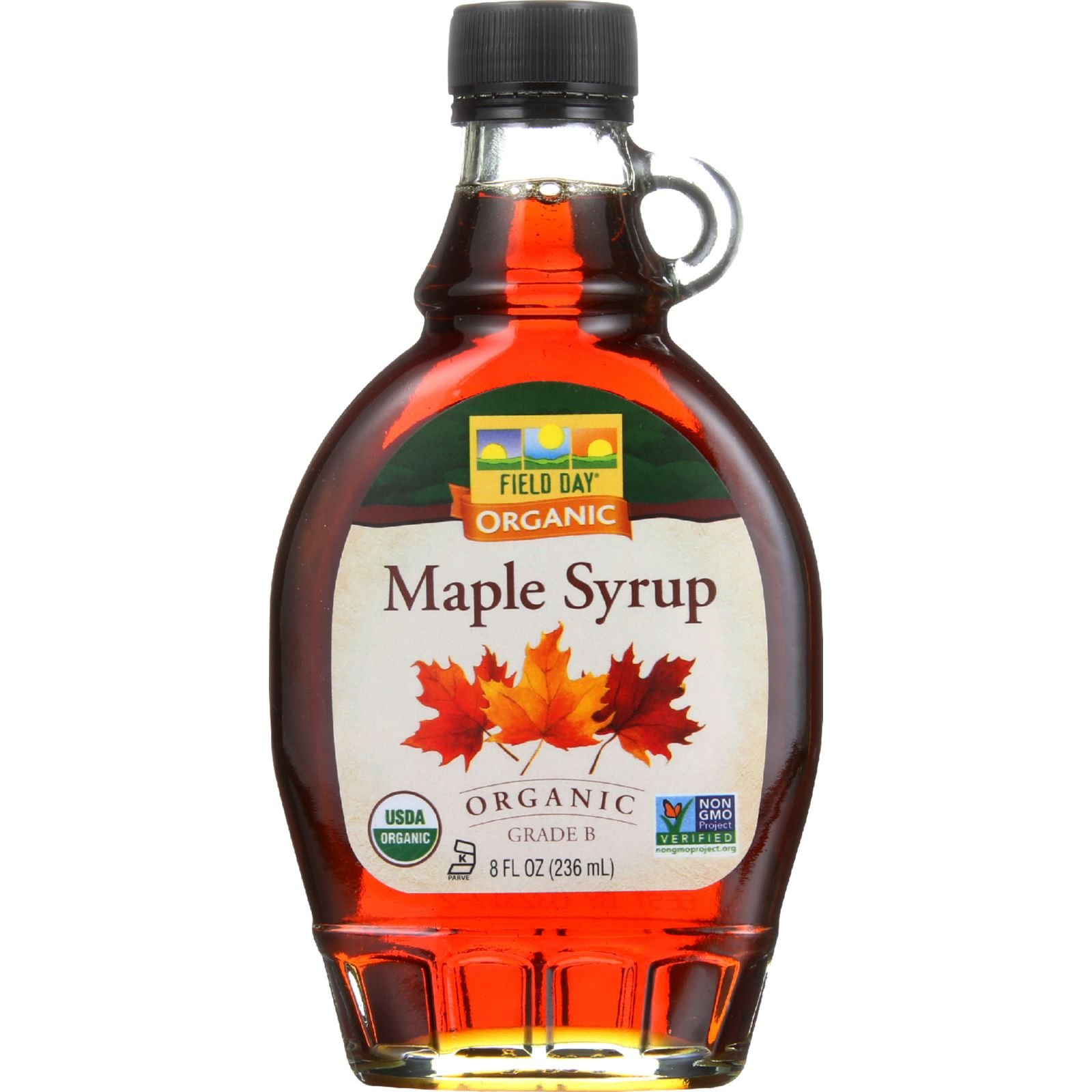 Field Day Maple Syrup Organic Grade B, 8 Ounce, 12 Count