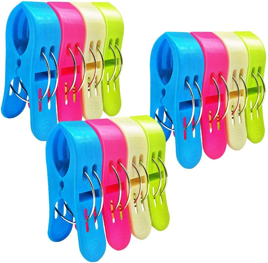 Plastic Beach Towel Holder Clips  Dolphin Grip Clothes Pegs  Quilt Sock Holder