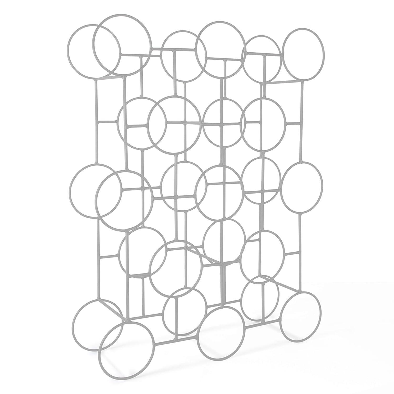 Weinregal / Flaschenregal CIRCOLO Aus Metall Silber Pulverbeschichtet H 60  X B 45 X T 14 Cm ...