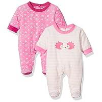 Twins Schlafstrampler Igel - Pyjama Bébé - Lot de 2 - Fille